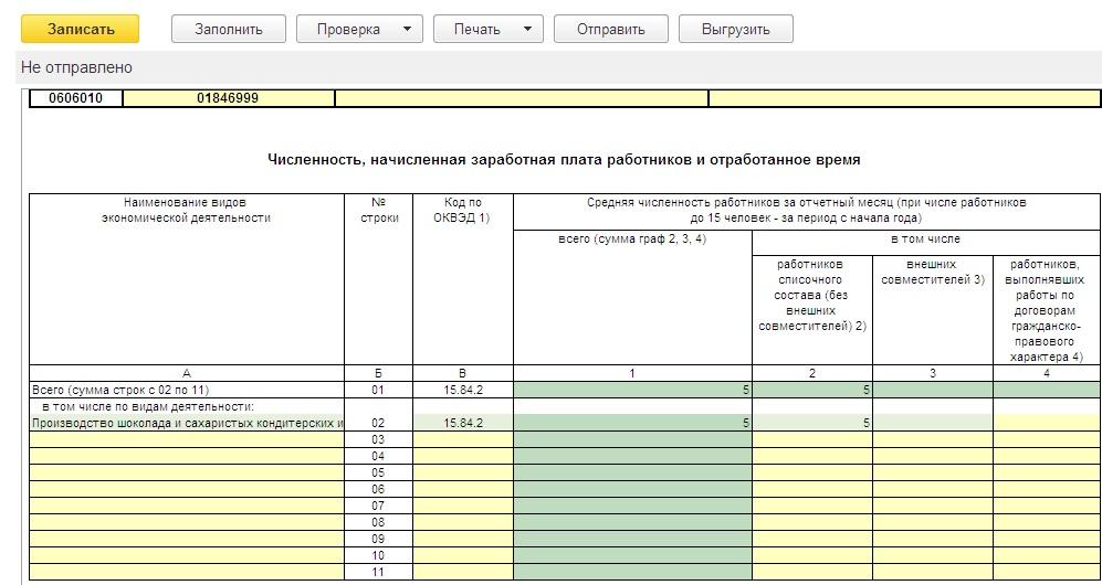 Федеральное Статистическое Наблюдение Форма 1 образец заполнения - картинка 2
